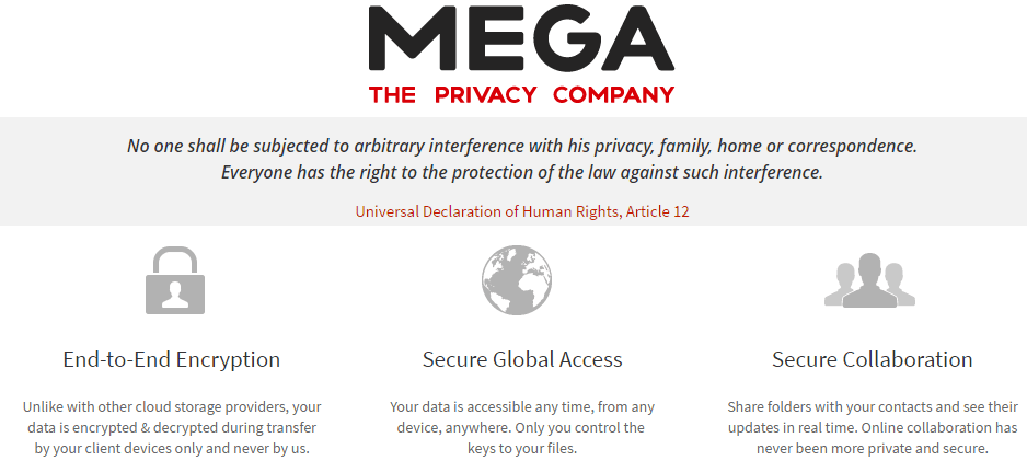 MEGA-security-privacy