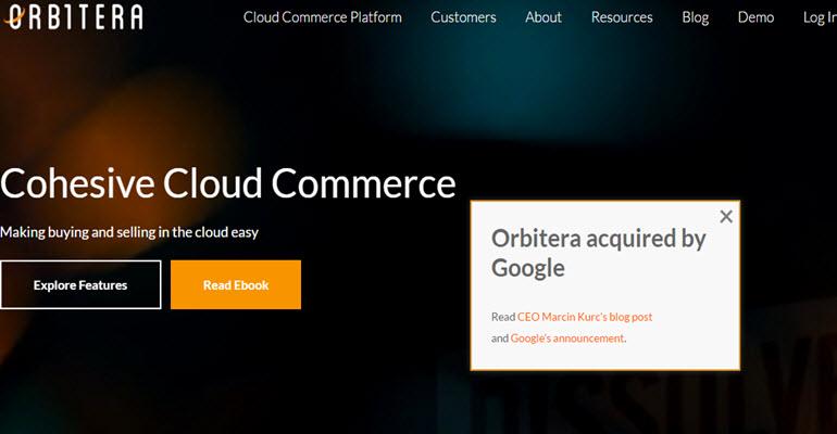 Google Acquires Orbitera in a move to close in on competitors