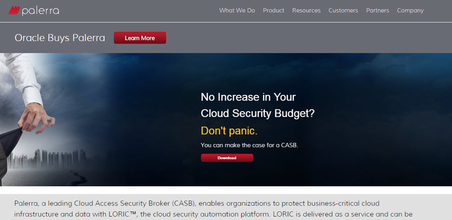 Cloud Security Firm, Palerra, Now Oracle Property
